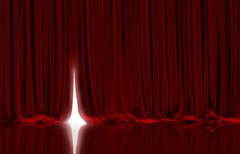 Red curtain in theater. Stock Illustration
