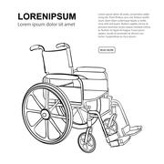 Wheelchair - stock illustration