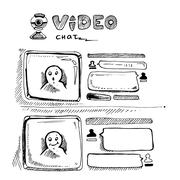 Video chat Piirros