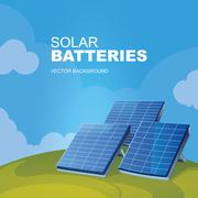 Solar panels Stock Illustration
