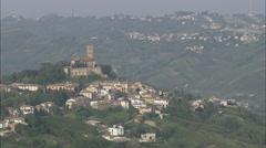 AERIAL Italy-Castello Di Cigognola Stock Footage