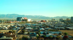 Vegas Tilt Shift Time Lapse - stock footage