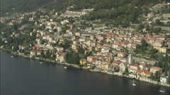AERIAL Italy-South-West Spur Of Lake Como Stock Footage