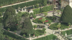 AERIAL Italy-Isola Bella Gardens Stock Footage
