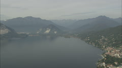 AERIAL Italy-Isolino Di San Giovanni And Verbania Stock Footage