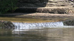 Continous Flowing Water of the River Barle in Somerset England Stock Footage