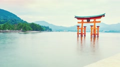 Time-lapse of the Famous Shinto Gate of Miyajima Stock Footage