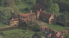 AERIAL United Kingdom-Ingatestone Hall Stock Footage