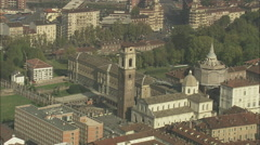 AERIAL Italy-Turin Stock Footage