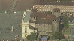 AERIAL Italy-Madama Palace Stock Footage