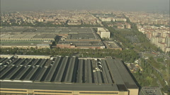 AERIAL Italy-Fiat Factory Stock Footage