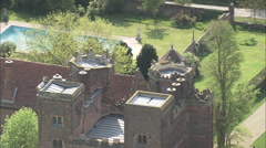 AERIAL United Kingdom-Layer Marney Tower - stock footage