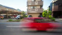 Time lapse journey through Matsuyama, Japan via train. Stock Footage