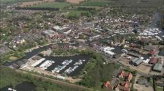 AERIAL United Kingdom-Wroxham Stock Footage