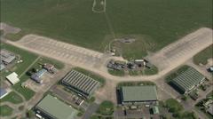 AERIAL United Kingdom-Raf Coltishall - Disused Stock Footage