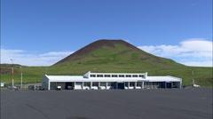 AERIAL Iceland-Vestmannaejar Airport Stock Footage