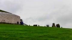 Newgrange, Ireland - an ancient passage tomb Stock Footage