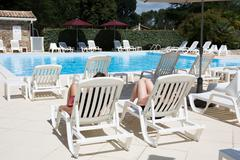Stock Photo of Beautiful swimming pool with nobody