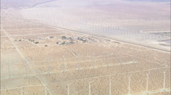 AERIAL United States-Landscape Of Windfarms Stock Footage