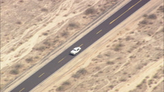 AERIAL United States-Twentynine Palms Highway And Desert Center Rice Road Stock Footage