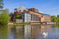 The Royal Shakespeare Theatre home of the Royal Shakespeare Company on the Stock Photos