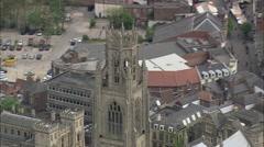 AERIAL United Kingdom-Boston Stock Footage