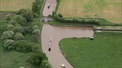 AERIAL United Kingdom-Hurleston Canal Junction Stock Footage