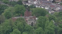 AERIAL United Kingdom-Ruthin Stock Footage