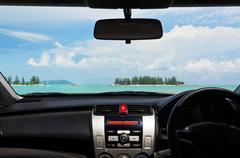 Drive to the beach Stock Photos