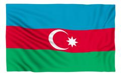 Flag of Azerbaijan - stock illustration