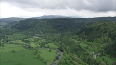 AERIAL United Kingdom-Betws-Y-Coed And Waterloo Bridge Stock Footage