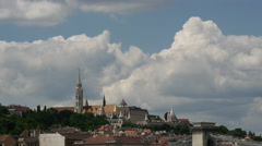 Time lapse from Matthias Church and the Fisherman's Bastion in Budapest Hungary Stock Footage
