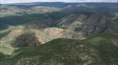 AERIAL United States-Wooded Canyons Stock Footage