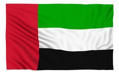 Flag of the United Arab Emirates - stock illustration
