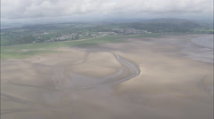 AERIAL United Kingdom-Morcambe Bay Stock Footage