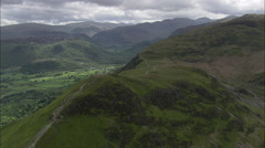 AERIAL United Kingdom-Around Castle Crag Stock Footage
