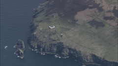 AERIAL Isle of Man-496 Calf Of Man Stock Footage