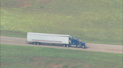AERIAL United States-Flight Revealing Truck On Route 256 Stock Footage