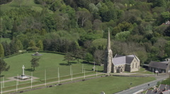 Tynwald Hill And St. John's Chapel Stock Footage