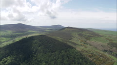 AERIAL Isle of Man-502H Slieau Whallian Stock Footage