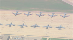 Stock Video Footage of AERIAL United States-Altus Airforce Base
