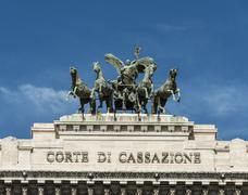 Stock Photo of Quadriga Corte Suprema di Cassazione Supreme Court of Cassation Palazzo di