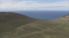 AERIAL Isle of Man-502K Fleshwick Bay And Cliffs Stock Footage