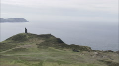 AERIAL Isle of Man-502A Port Erin Stock Footage