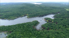 AERIAL United States-Bull Shoals Lake And Dam Stock Footage