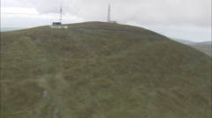 Snaefell And Mountain Railway, Train Travelling Up Stock Footage
