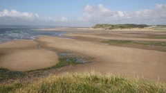 The Gower peninsula South Wales UK near Rhossili at Broughton bay Stock Footage