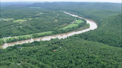 AERIAL United States-White River Past Edge Of Buffalo River National Park - stock footage