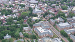 AERIAL United States-Maryland State House Stock Footage