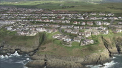AERIAL Isle of Man-499 Douglas Stock Footage